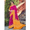 Pink Dola Silk Indian Saree Online Shopping With Blouse