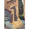Navy Blue Dola Silk Indian Saree With Blouse