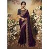 Purple Embroidered Art Silk Heavy Stone Work Saree Online