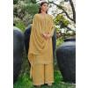 Golden Chiffon Designer Palazzo Suits Online Shopping USA