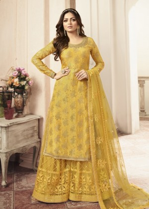 Yellow Embroidered Pakistani Salwar Kameez