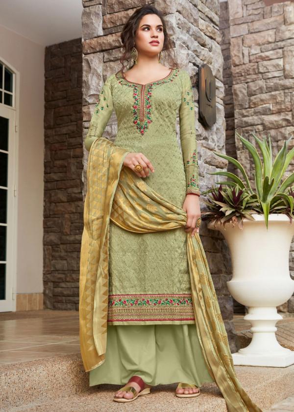 Green Embroidered Pakistani Salwar Kameez Online USA